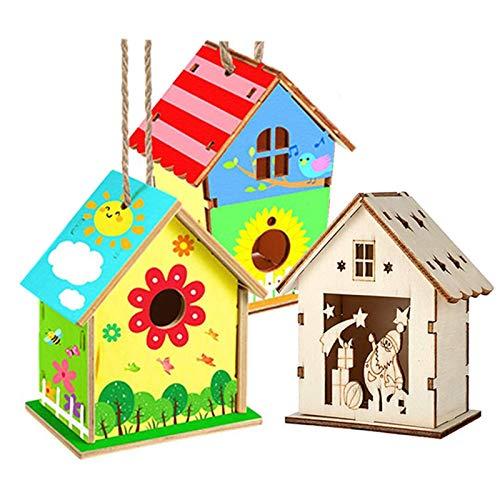 Costruisci e dipingi una casetta per gli uccelli Birdhouse in legno fai da te Kit casetta per uccelli fai da te Adatto per insegnare ai bambini e può essere utilizzato anche per decorare le case