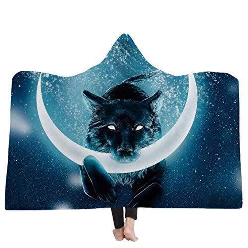 Sticker Superb Capteur de Rêves Loup Couverture à Capuche,Couverture de Bébé/Canapé et Lit Jetant Une Couverture/Animale Couverture avec Capuche (60\