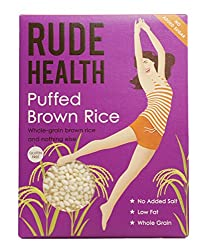 Low in fat A non gm product No refined sugars No added salt 100 percent whole brown rice