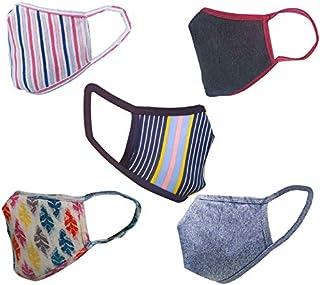 Cotton Cloth pack of 25 Face Mask Washable Reusable Face Masks Soft Earloop/Mouth Nose Cover face masks Men Women Kids Uni...