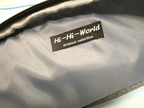 『【Hi-Hi-World】 ボックス型 リュック サック スクエア バッグ PUレザー (2.水色 スカイブルー)』の4枚目の画像