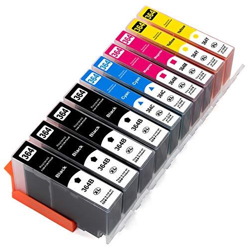 ESMOnline 10 kompatible XL Druckerpatronen (4 Farben) als Ersatz für HP 364 zu HP OfficeJet 4610, 4620; DeskJet 3520, 3070A B611; Photosmart Plus B209, B210; Photosmart Wireless B109, B110; Photosmart B010, B109, 5510, 5520, 6510, 6520, 7510, 7520