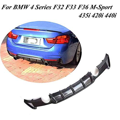 HIGHER MEN HINTER BUHRER Lip Diffuser Spoiler FIT FÜR BMW 4 Series F32 F33 F36 M Sport Limousine Gran Coupe Convertible 2014-2018 Kohlefaser Auto Zubehör (Color : One Oulet Two Side)
