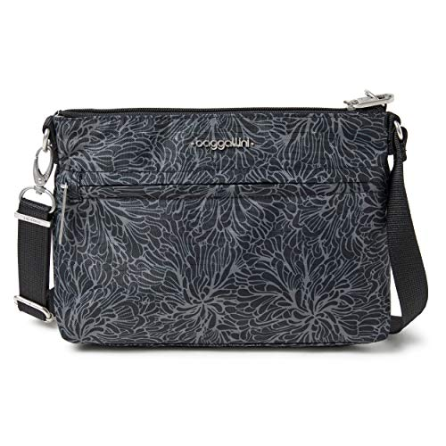 Baggallini Anti-Theft Memento Crossbody Bag, Midnight Blossom
