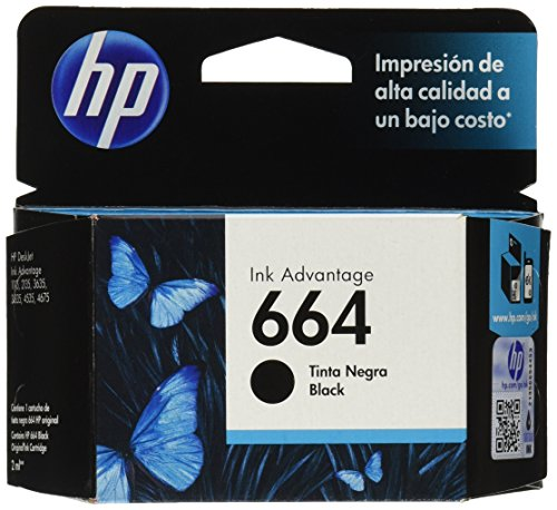 HP Cartucho Original de Tinta Negra 664 Advantage (F6V29AL)