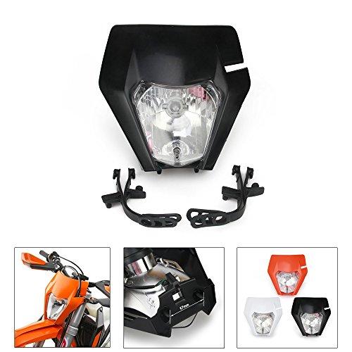 JFG RACING Motorradscheinwerfer für Moto K.T.M. EXC250 SX250 SXF250 EXC450 SX350 SXF450 EXC525 640LC4 Dirt Bike Enduro ATV Scooter