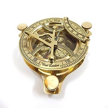 INDIA OVERSEAS TRADING CORP 4.5  Brass Sundial Compass