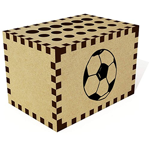 Azeeda 'Hand Gezeichneter Fußball' Bleistift Block / Halter (PB00005337)