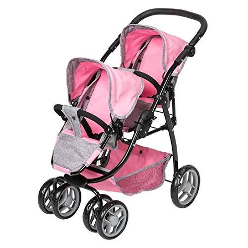 UKB Silver Cross Dolls Twin Wave Stroller Kids Childrens Toy Pram Buggy Pushchair