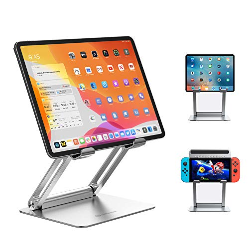 タブレット スタンド ipad スタンドAnkmax STPF2 折りたたみ式 ホルダー 高さ角度調整可能 アルミ製 姿勢改善 人間工学設計 安定度抜群iPad/Surface機種に対応 6-12.9インチに対応