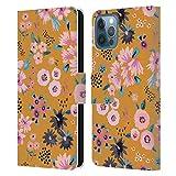 Head Case Designs Licenza Ufficiale Ninola Fiori Senape Floreale 2 Cover in Pelle a Portafoglio Compatibile con Apple iPhone 12 / iPhone 12 PRO