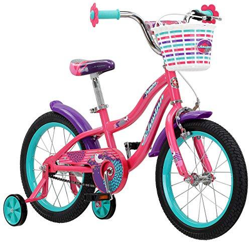 Schwinn Jasmine Girl's Bike with Training Wheels, 16' Wheels, Pink (Renewed)