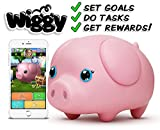 Wiggy Piggy Bank (Pink): Smart Speaking Piggy Bank and Task Tracker