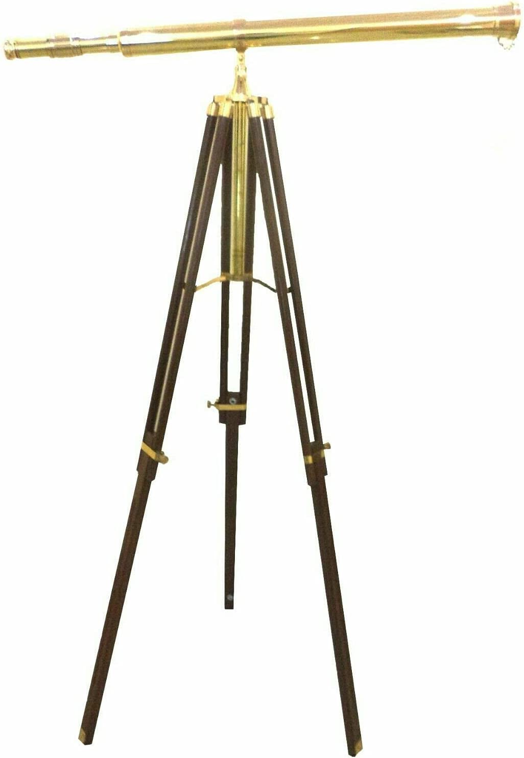Antique Nautical Floor Sale A surprise price is realized SALE% OFF Standing Brass Inch Telescope 39 with Woo