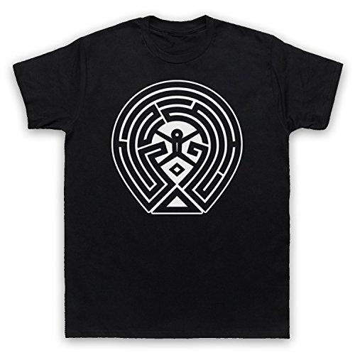Westworld Maze Map T-Shirt des Hommes, Noir, XL