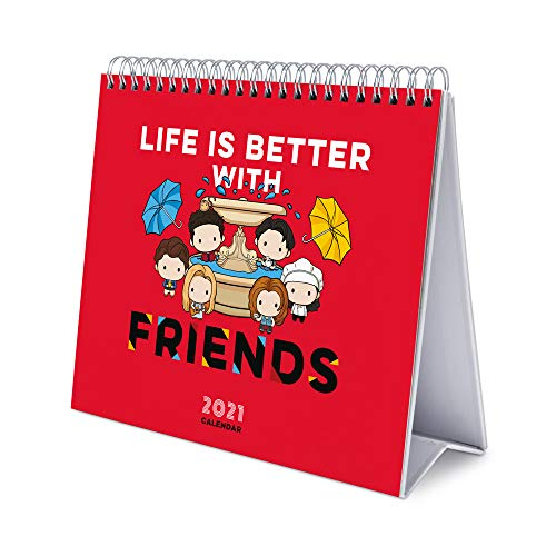 ERIK - Calendario de Escritorio 2021 Friends, 17x20 cm
