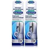 Dr. Beckmann Edelstahl Schutz und Pflege - 2 x 40 ml | Reinigt, pflegt und bildet einen effektiven Schutzfilm | Anti-Finger-Print-Effekt