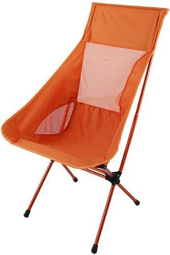 YAC Alliage d'aluminium Pliante Chaise Chaise de Camping, De Plein air Chaise de Plage Chaise de pêche Ultra-léger Portable,A