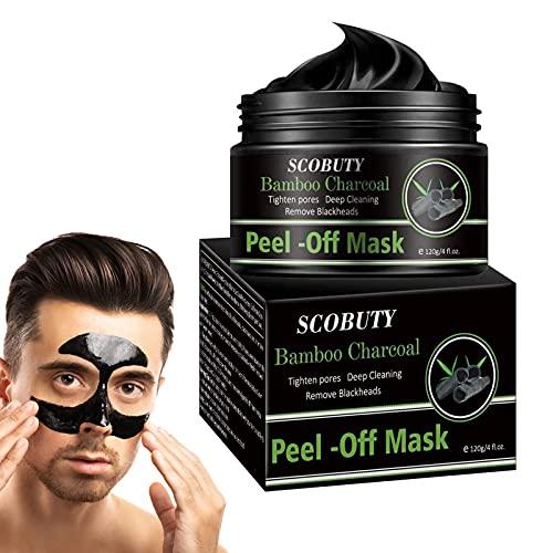 Peel Off Mask para hombre,Mascarilla Puntos Negros,Mascarillas Exfoliantes y Limpiadoras,Mascarilla Exfoliante Facial,Black Mask, Deep Cleansing Mascarilla 120g