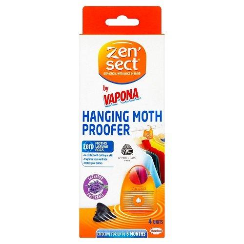 Caraselle - Lot de 4 protections anti-mites à suspendre parfum lavande
