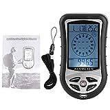 HERCHR Termometro barometro Bussola altimetro Digitale Multifunzione Portatile 8 in 1 con retroilluminazione LCD per Campeggio Escursionistico all'aperto