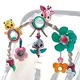 Tiny Love Sunny Stroll Arco de juegos educativo con sonajero y actividades, a partir de 0 meses, Clips de acople universales, Tiny Princess Tales, Rosa