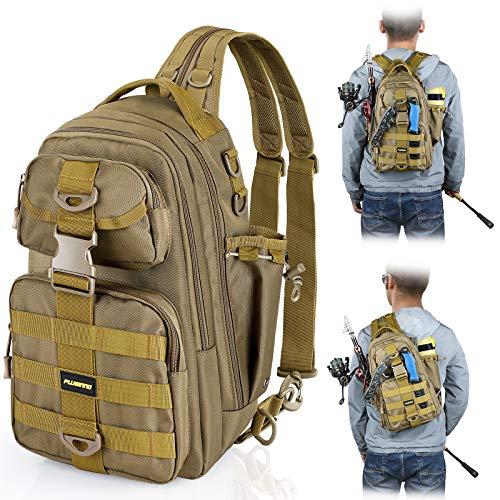 PLUSINNO Fishing Tackle Backpack Storage Bag,Fishing Gear...