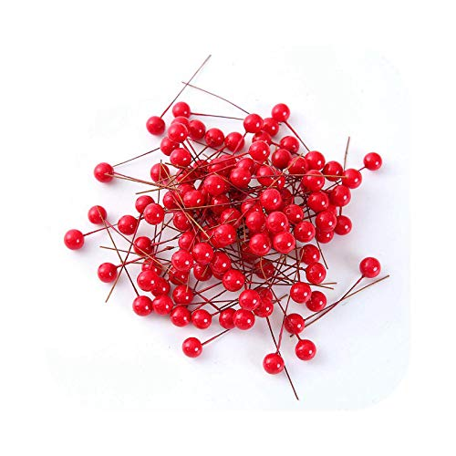 Fake Flower Artificial Flower, 50/200 Pieces/Set of 200 Mini Fake Berry Plastic Red Cherry