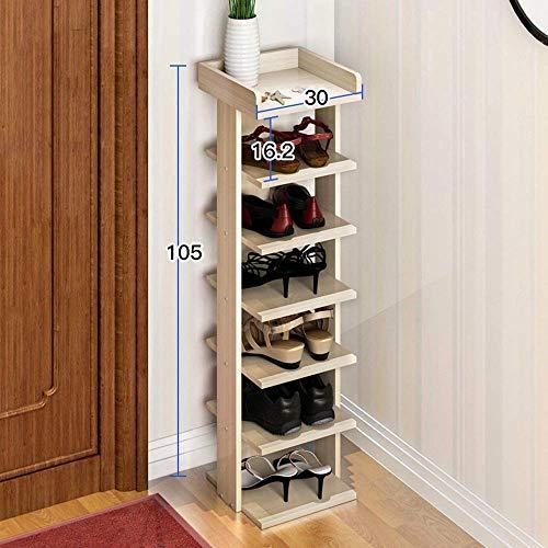WLGQ Armario para Zapatos a Prueba de Polvo Zapatero de 7 Niveles, Puerta de Estante de ensamblaje Multicapa económico para el hogar, Estante para Zapatos Estante Moderno Simple a Prueba de Polvo