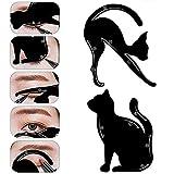 bigboba.2pz occhio di gatto stencil di ombretto per linea eyeliner eye stencil template eye makeup eyeliner stencil, creativo multifunzione professionale