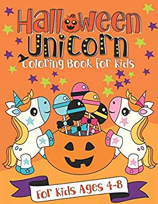 Halloween Unicorn Coloring Book for Kids: A Fun Gift Idea for Kids | Coloring Pages for Kids Ages 4-8