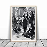 KWGQM Rebellious Nuns Print Black and White Photography Poster Nuns Smoking Sexy Wall Art Picture Vintage Canvas Painting Home Wall Decor 50x70cm No Frame