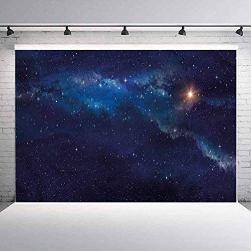 8x8FT Vinyl Backdrop Photographer,Sky,Deep Space Universe Image Background for Baby Birthday Party Wedding Graduation Home Decoration