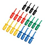 HALJIA, 20 ganci colorati per test elettrici, in cinque colori, kit per cavi multimetro