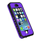 iPhone 5S/SE Case, Waterproof Dirtproof Shockproof Durable Hard Cover Case for Apple iPhone 5S, Fully Supports Finger Print Function for 5S -Purple