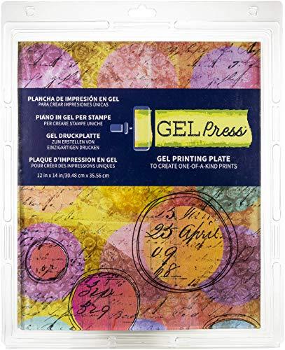 Gel Press - PolyGel-Presse - Druckplatte aus Gel - wiederverwendbar - 12