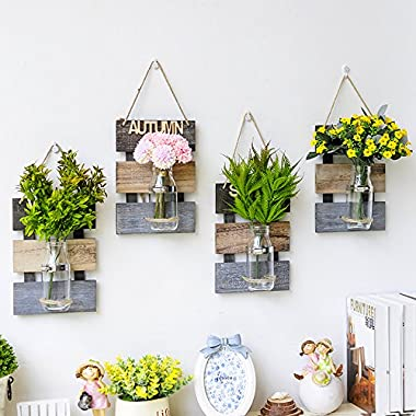 4PC Creative Handcrafted Wall Vases, Hanging Vases, Wall Planter, Flower Container, Home Decoration (4style,without flower)