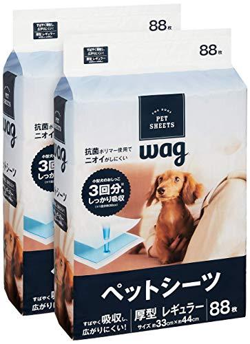 AmazonブランドWag ペットシーツ レギュラー 88枚x2袋(176枚)