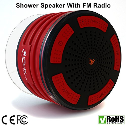 iFox iF013 Bluetooth Shower Speaker - 100% Waterproof Shower Radio....