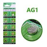Cotchear 10pcs/Pack AG1 Coin Battery 1.55V 364 SR621SW LR621 621 LR60 CX60 Alkaline Button Cell Batteries for Watch