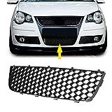 HCDSWSN Parachoques Delantero + Izquierdo + Derecho Parachoques Inferior Faro antiniebla Rejilla de ventilación, para VW Polo-GTI 06-09 MK4 9N3 ABS Negro Auto repuestos