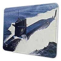マウスパッド ゲーミングマウスパッド-海の写真で米国海軍攻撃潜水艦 滑り止め デスクマット 水洗い 25x30cm