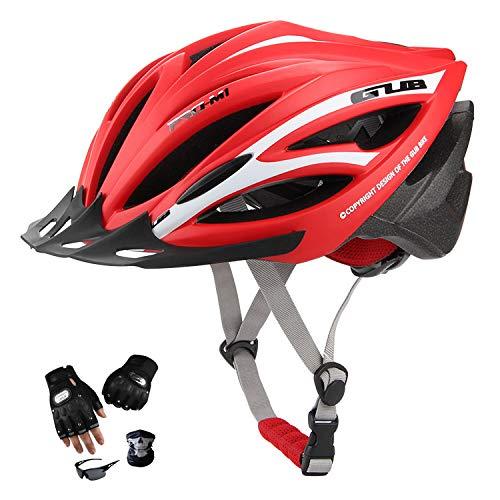 YYYY Bicycle Helmet, Anti-Ultraviolet, Adjustable, Easy to Clean, Lightweight, Unisex Roller Skating City Skating Mountain Bike Helmet Set (55-61CM) 2