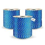 DQ-PP POLYPROPYLENSEIL | 5mm | 100m | BLAU Polypropylen Seil | Tauwerk PP Flechtleine Textilseil Reepschnur Leine Schnur Festmacher Rope Kordel Kunststoffseil Kletterseil geflochten