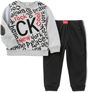 Calvin Klein Baby Boys 2-Pc. Graphic-Print Top & Jogger Pants Set