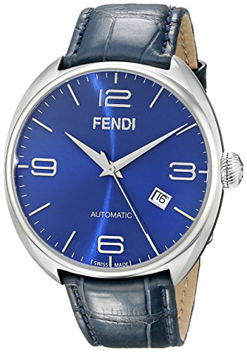 Fendi Fendimatic Men's 42mm Automatic Blue Leather Date Watch F200013031