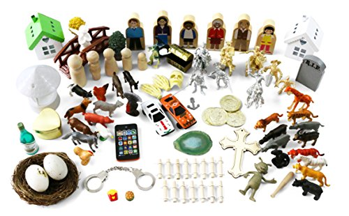 Sandtray Play Therapy Basic Starter Kit - 85+ Pieces