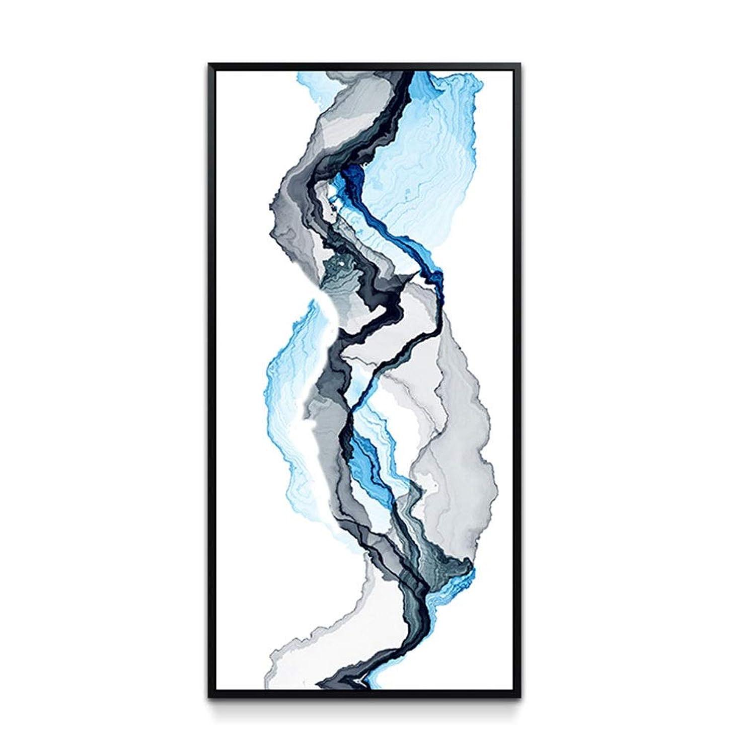 最初はロイヤリティ胚ZR モダンな抽象的装飾画、シンプルなぶら下げ絵画 - リビングルームのダイニングルームの廊下の壁画垂直壁画に適して (色 : ゴールド, PATTERN : B)
