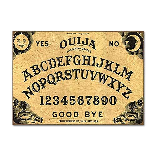 CAPTIVATE HEART Ouija Board Poster Wandkunst Drucke Leinwand Malerei Wohnkultur Bilder für Schlafzimmer Wohnzimmer 60x90cm, kein Rahmen
