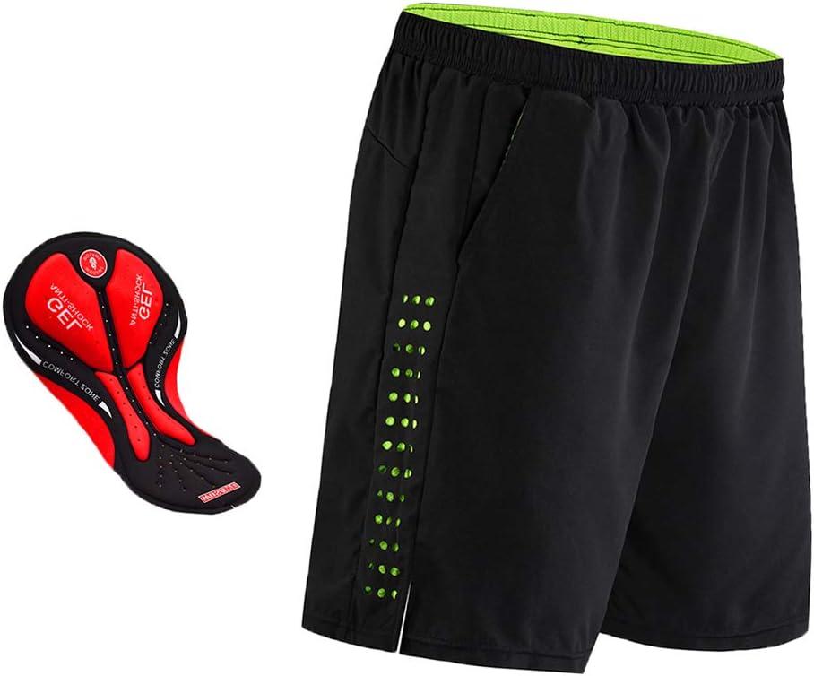 T TOOYFUL Cuissards De V/élo pour Hommes 3D Gel Pad Loose Fit Pantalon D/écontract/é Demi-Pantalon Court Et Cycliste avec R/éfl/échissant